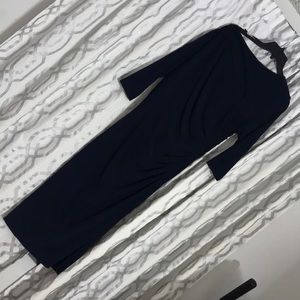 calf length gown